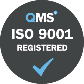 ISO 9001 Registered - Grey